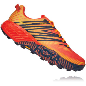 Hoka One One Speedgoat 4 GTX Shoes Men, mandarin red/gold fusion